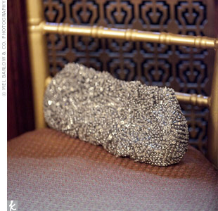 Allison carried a silver-beaded clutch.