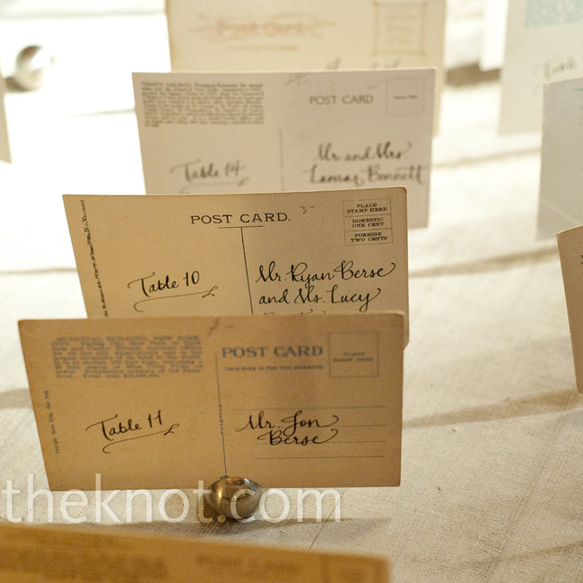 Vintage postcards—collected from the 