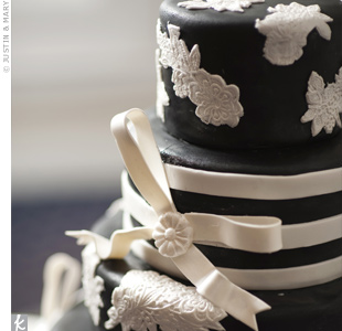 Black-and-White Fondant Cake