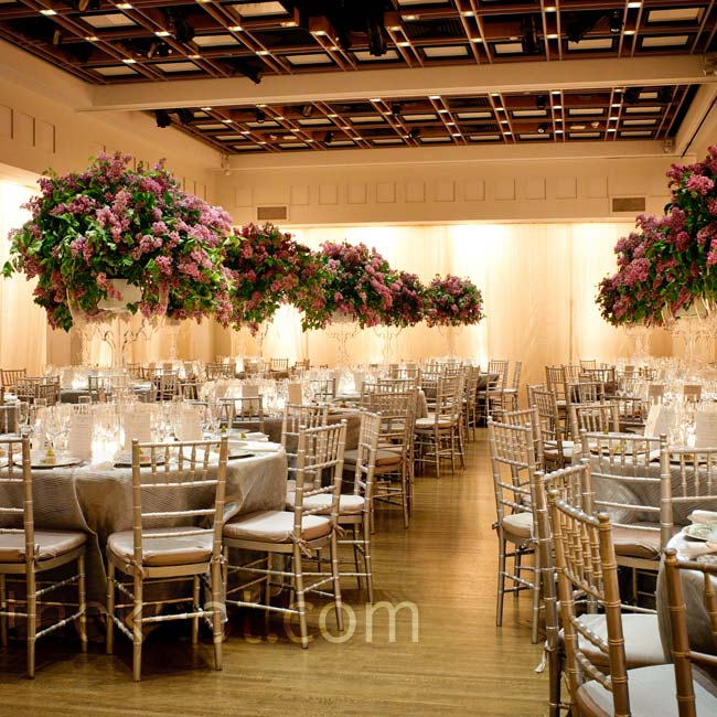 White draping around 