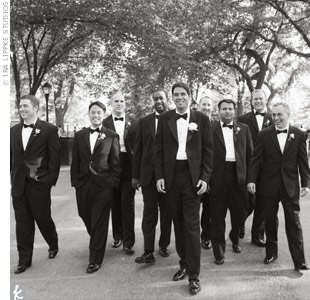 The guys looked sharp 