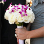 White and Magenta Bouquet