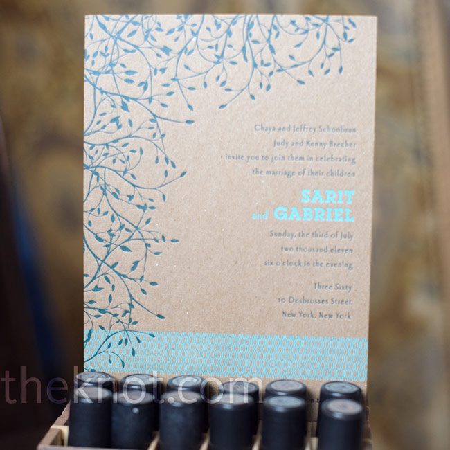The couple's letterpress 