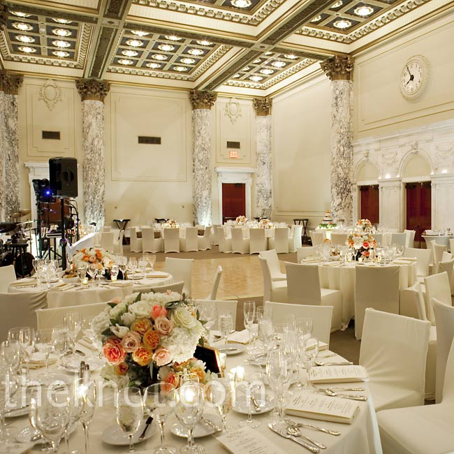 Sleek white linens and 
