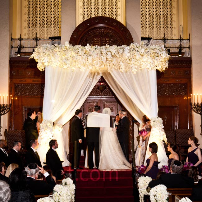 Dramatic white draping, 