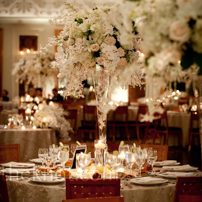 Tall, glass, trumpet-