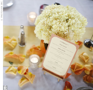 The menu cards were an easy DIY project created from 