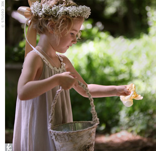 The flower girls wore 