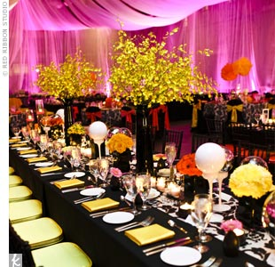 Hot pink uplighting 