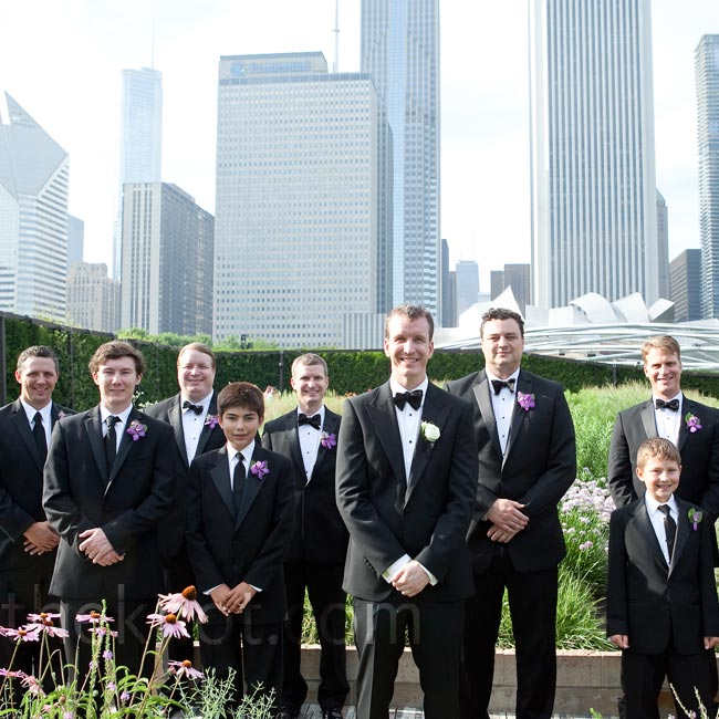 All the guys—even the young ushers—dressed 