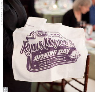 Guests waved custom 
