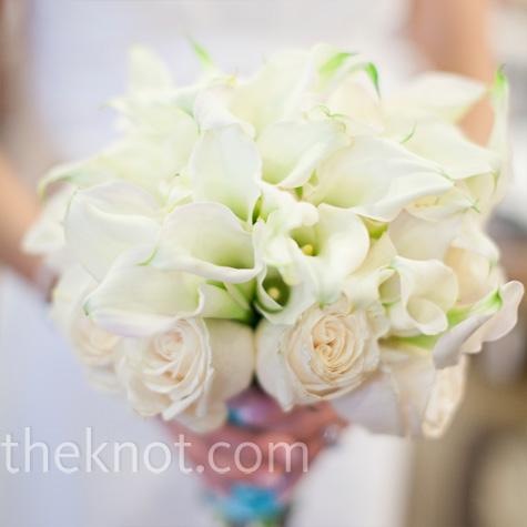 White Rose Calla Lily Bouquet