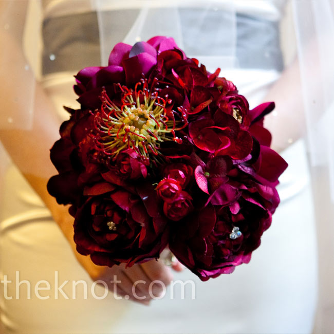 Irina made this silk bouquet 