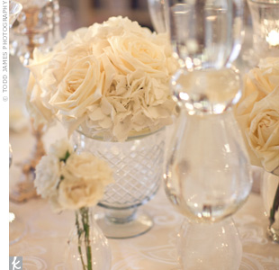 White Floral Centerpieces