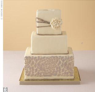 Modern Petal Wedding Cake