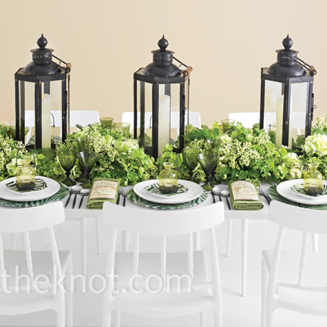 Modern Green Reception Decor