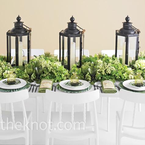 Modern Green Reception Decor