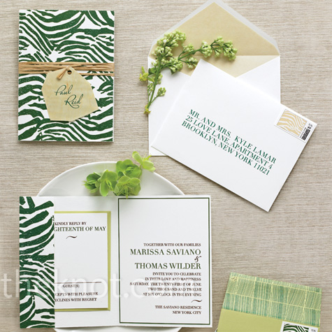 Green Patterned Stationery