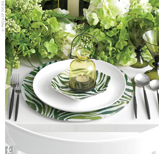 Modern Green Table Setting