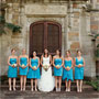 Bright Teal Bridesmaid Dresses