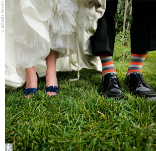 Striped Wedding Socks