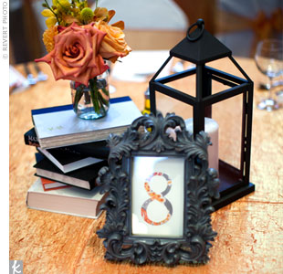 Each table was numbered with a sign displayed in a vintage-style gray frame.
