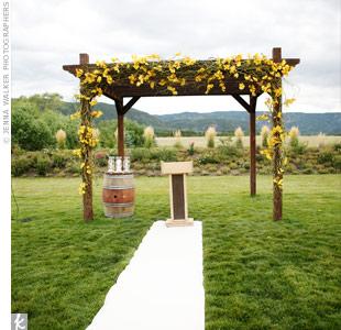Moss Ceremony Pergola