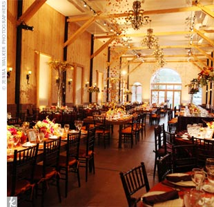 Autumn-inspired Reception Decor
