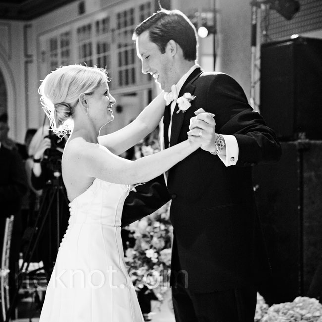 "The newlyweds danced to Michael's song of choice: Lye Lovett's ""I Know You Know."""