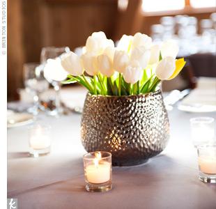 White Tulip Centerpieces