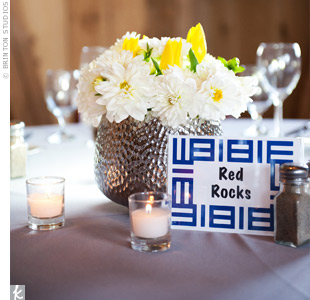 To add some local flavor, Stacy and John named the tables after their favorite Colorado hot spots.
