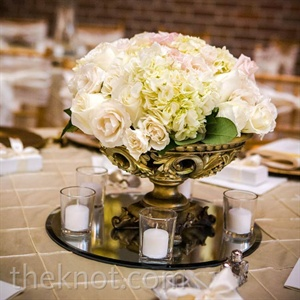 Formal White Centerpieces