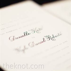 A cursive font on white cardstock made the invites perfectly elegant.