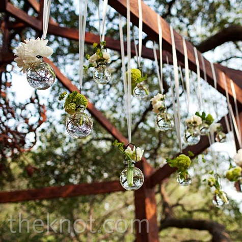 Hanging Glass and Floral Decor
