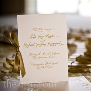 Formal White Wedding Programs