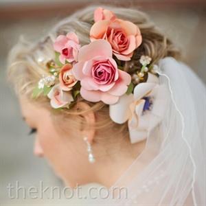 Paper Hair Flowers