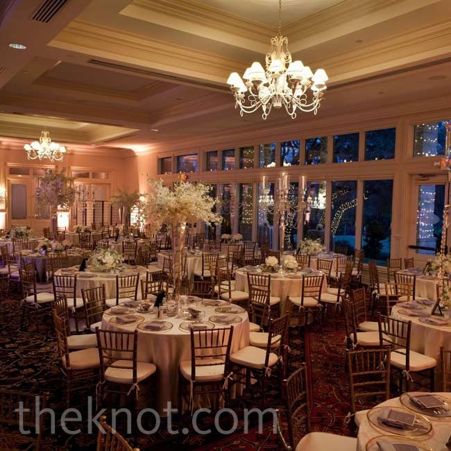 The classic country club ballroom space was the perfect canvas for the couple's traditional style.