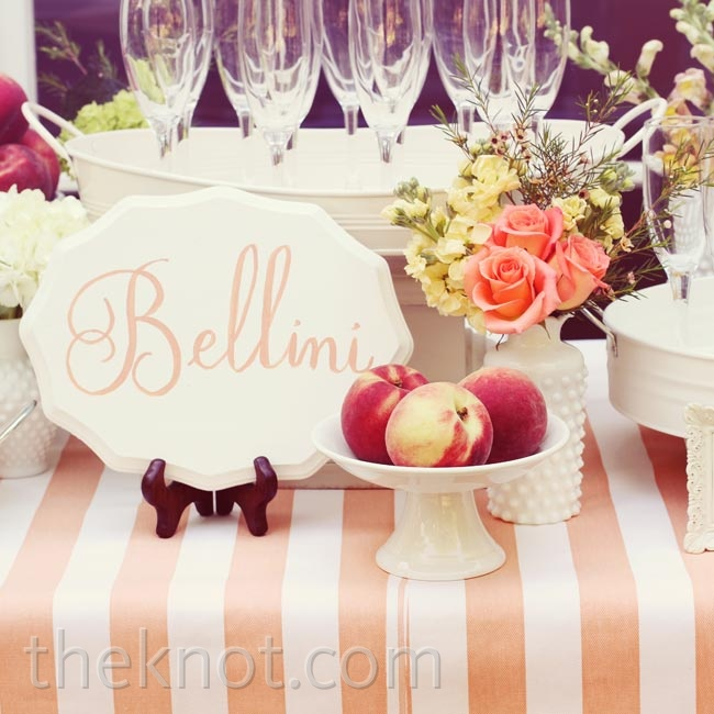 The signature cocktails were classic Bellinis and peach lemonade served up from an elegant drink station.