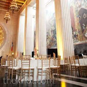The historical building's grand look went along perfectly with the couple's opulent wedding style.