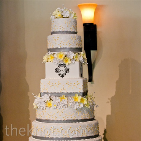 yellow and gray wedding cake yellow and gray wedding cake