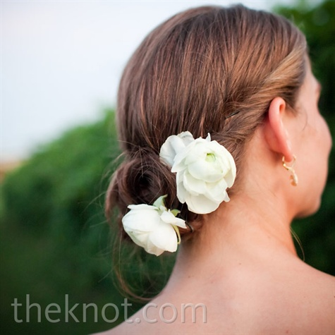 White Floral Updo