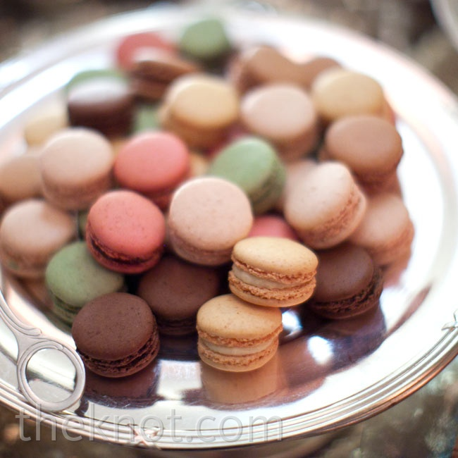 French macarons were served up as a late-night treat for guests.