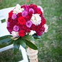 Red, Pink, and White Ceremony Decor