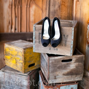 Black Peep-Toe Pumps