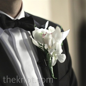 The guys wore white orchids on their lapels.
