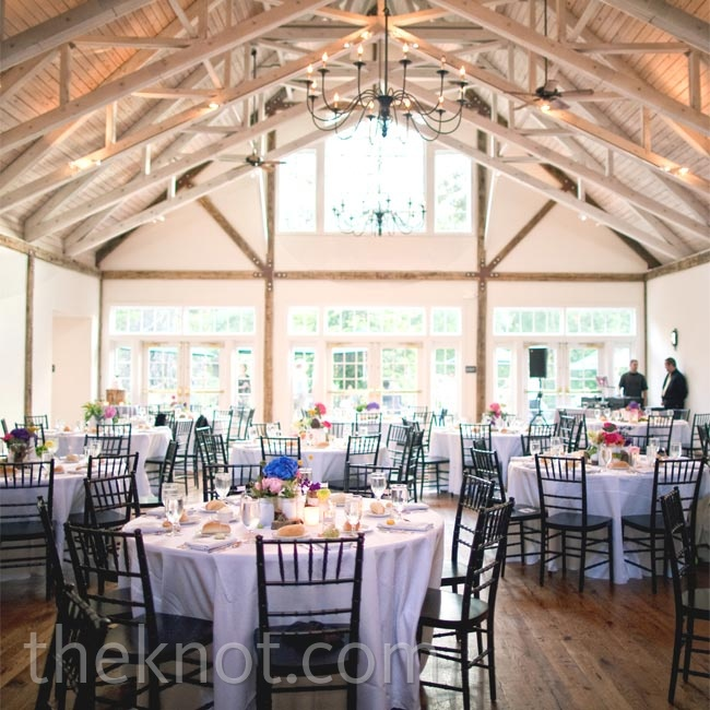 Katie and Jordan wanted the reception to reflect their personal styles, so they kept the look very clean but made sure no two tables were decorated the same.