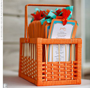 Orange Wedding Programs