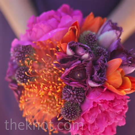 Purple and Orange Bouquet