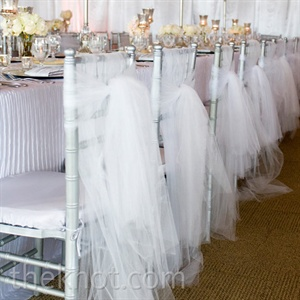 Tulle Reception Chair Decor