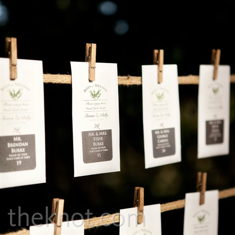 Eco-Friendly Escort Cards
